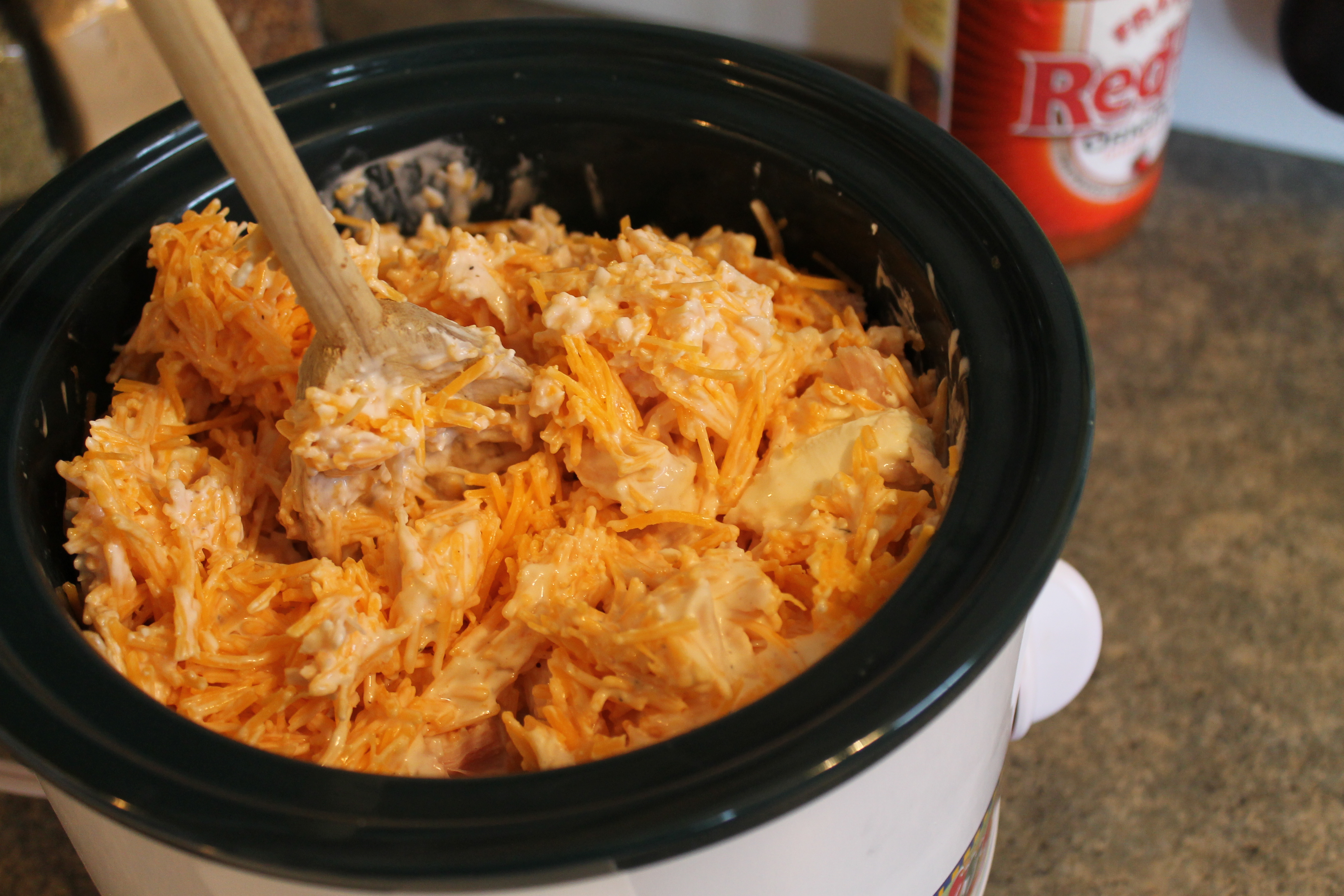 Buffalo chicken dip recipe with louisiana hot sauce
