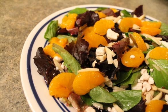 Mandarin and Goat Cheese Salad Diagonal