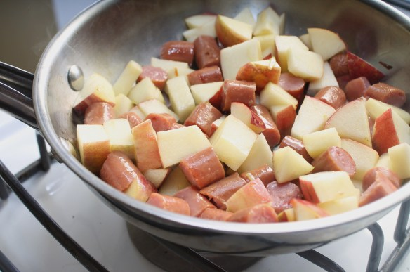 Cook the Apples and Sausage